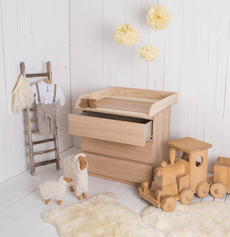 Natural Wood Changing Table