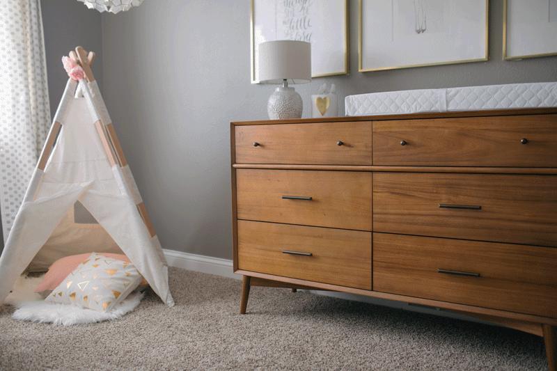40s style nursery dresser