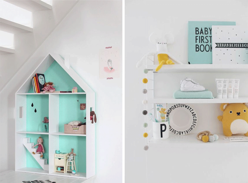turquoise kids decor