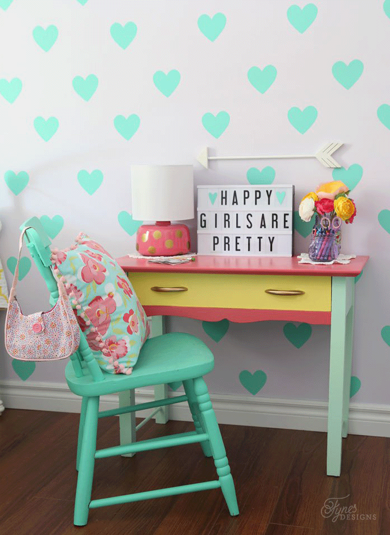 painted vintage kids desk