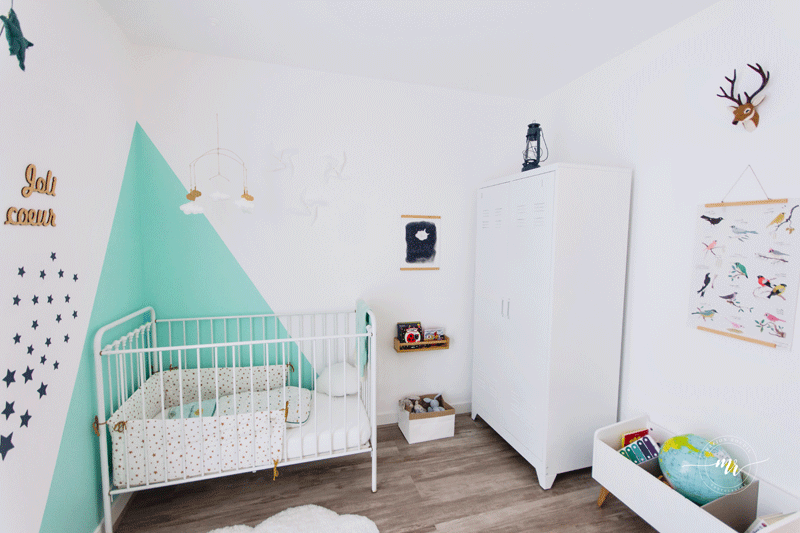 turquoise white nursery