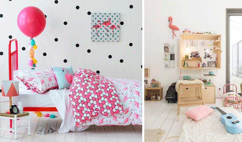 flamingo theme children room