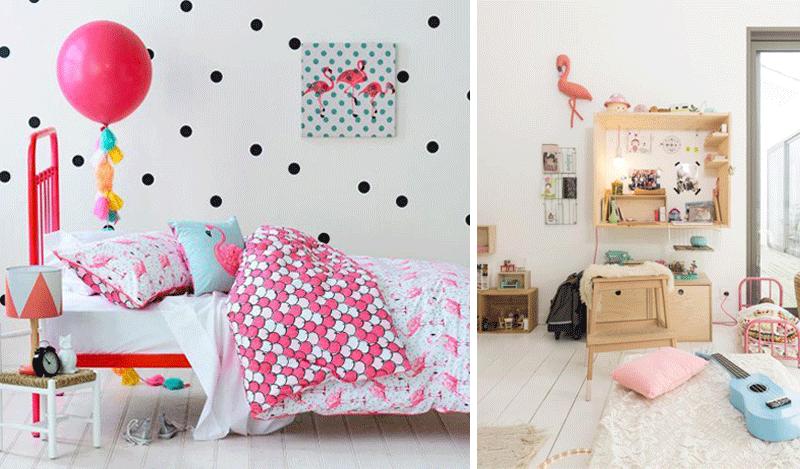 flamingo theme children room