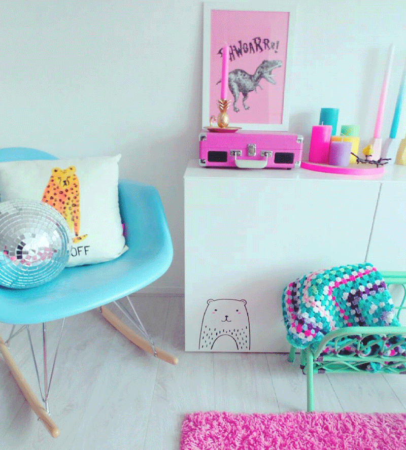 pink and turquoise girls decor