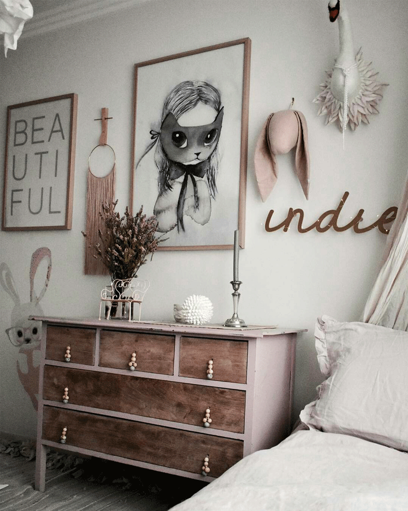 shabby chic kids room