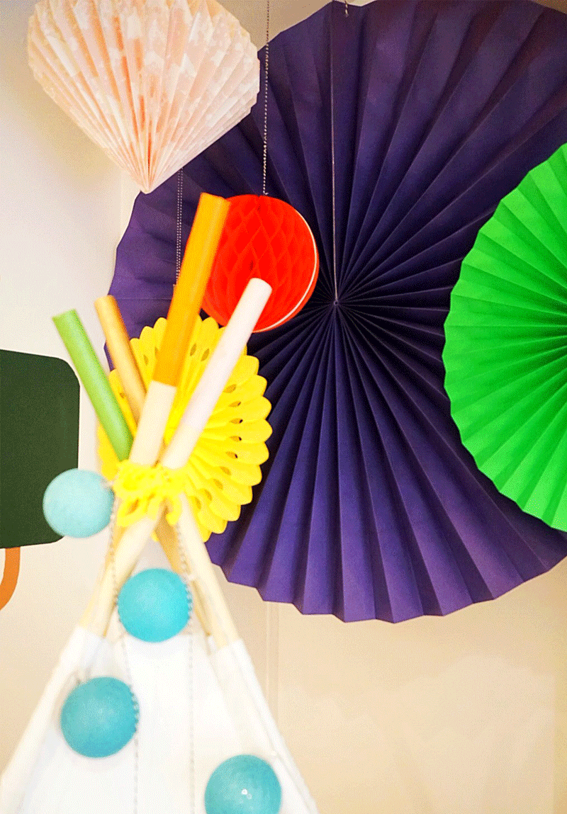 paper ceiling pom poms
