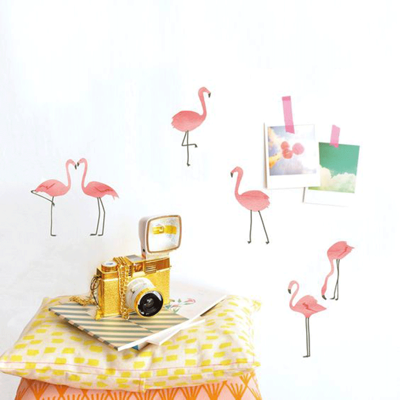 flamingo wall stickers kids room