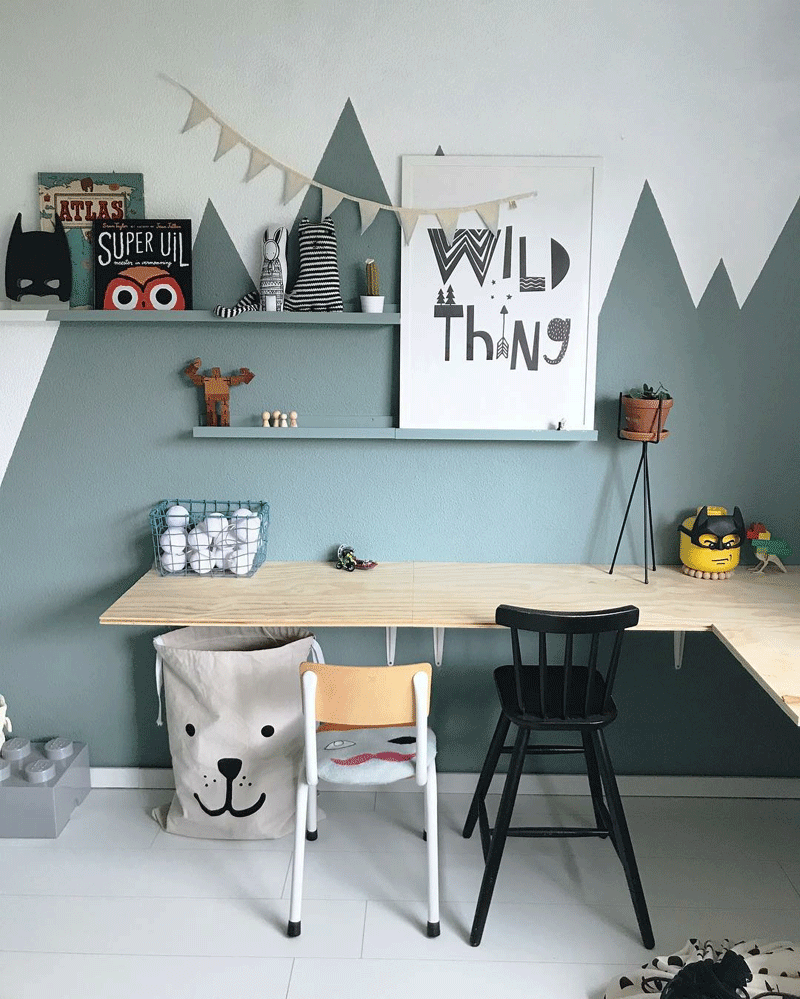Play And Study Room: The Study Area In A Kid's Room