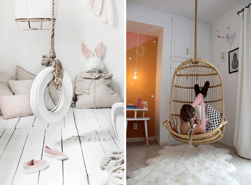 indoor swing chair kids room