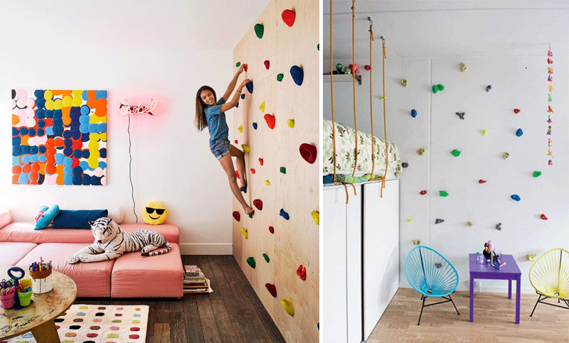 climbing walls playroom
