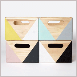 geometric toy storage boxes
