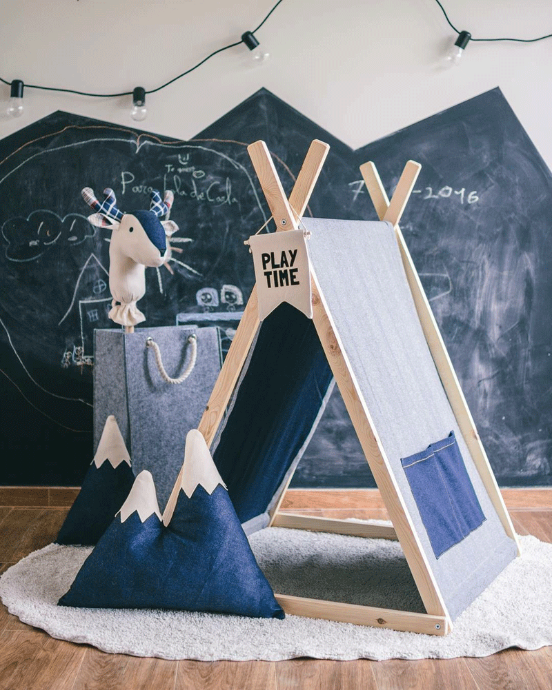 denim teepee playtent