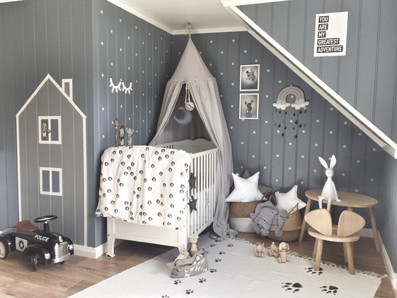 grey white boy nursery