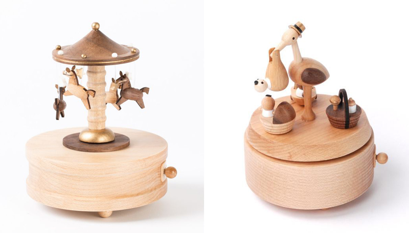 wooden music boxes