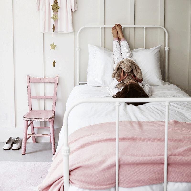 pink kids cashmere blanket