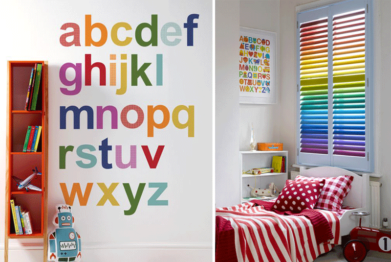 rainbow coloured abc poster