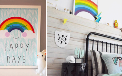 RAINBOWS IN KIDS' INTERIORS