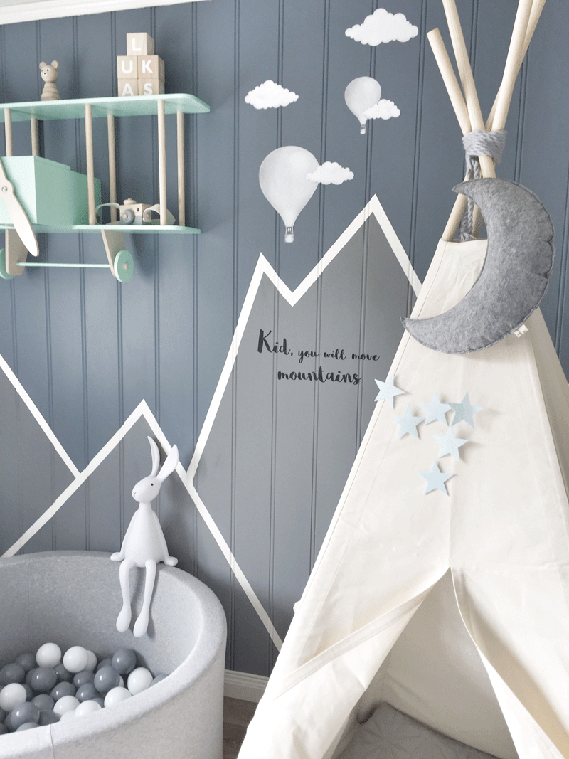 mountain wall decor nursery