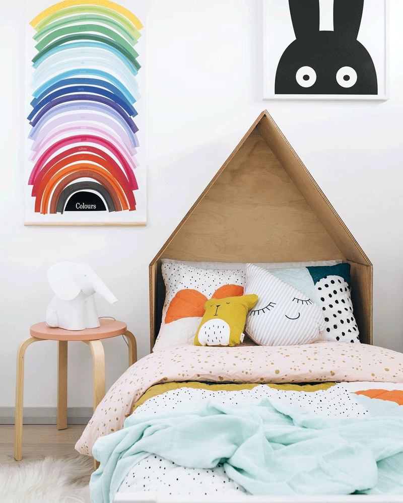 rainbow colours childrens room