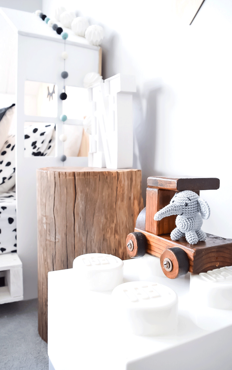 timber bedside table
