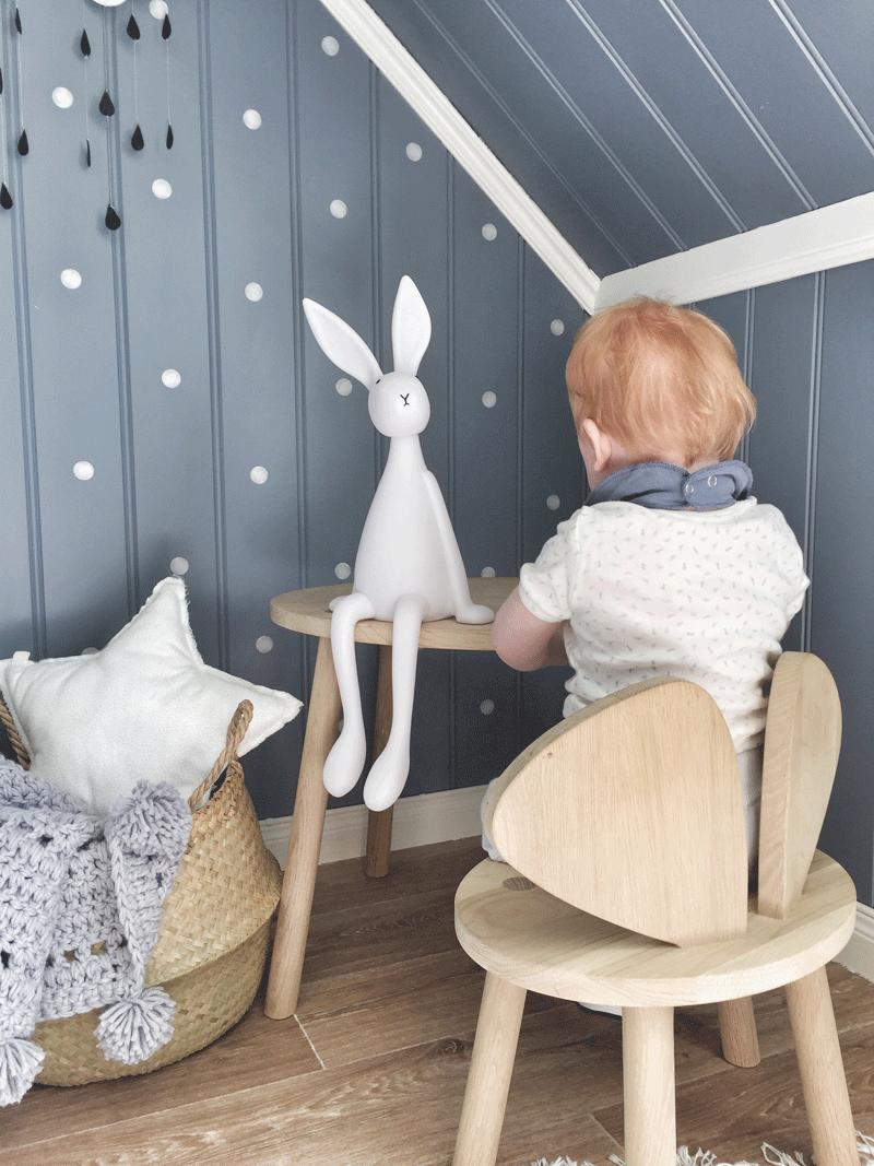 bunny plushie nursery