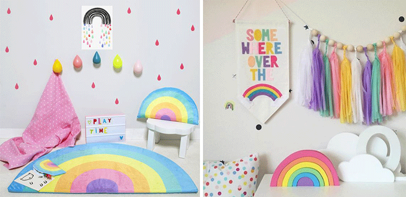 rainbow kids decor