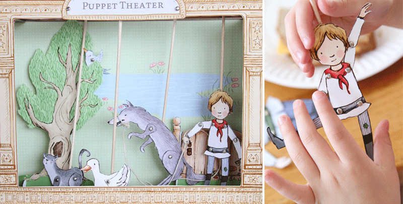 paper puppet theatre diy kit