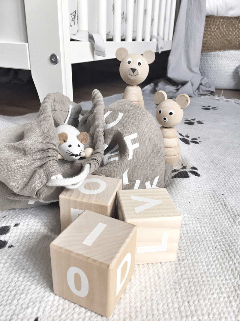 wooden abc cubes