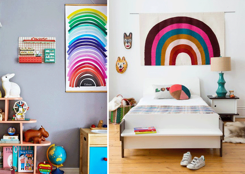 rainbows kids rooms
