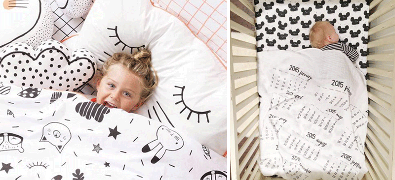 funy kids bedding