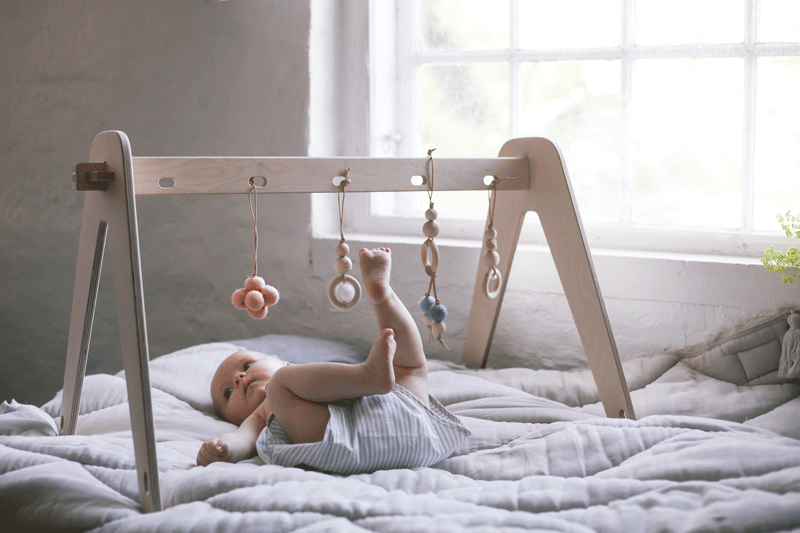 wooden playgym for babies