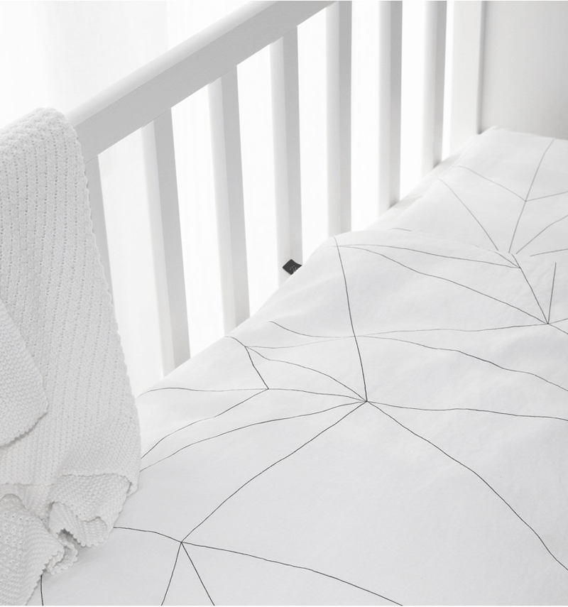 geometric nursery bedding