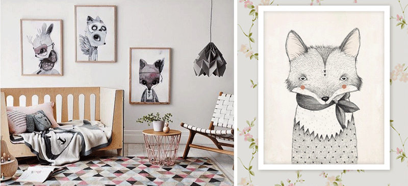 kids posters with foxes