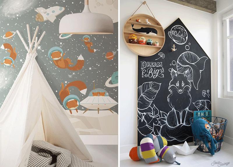 fox kids wall decor