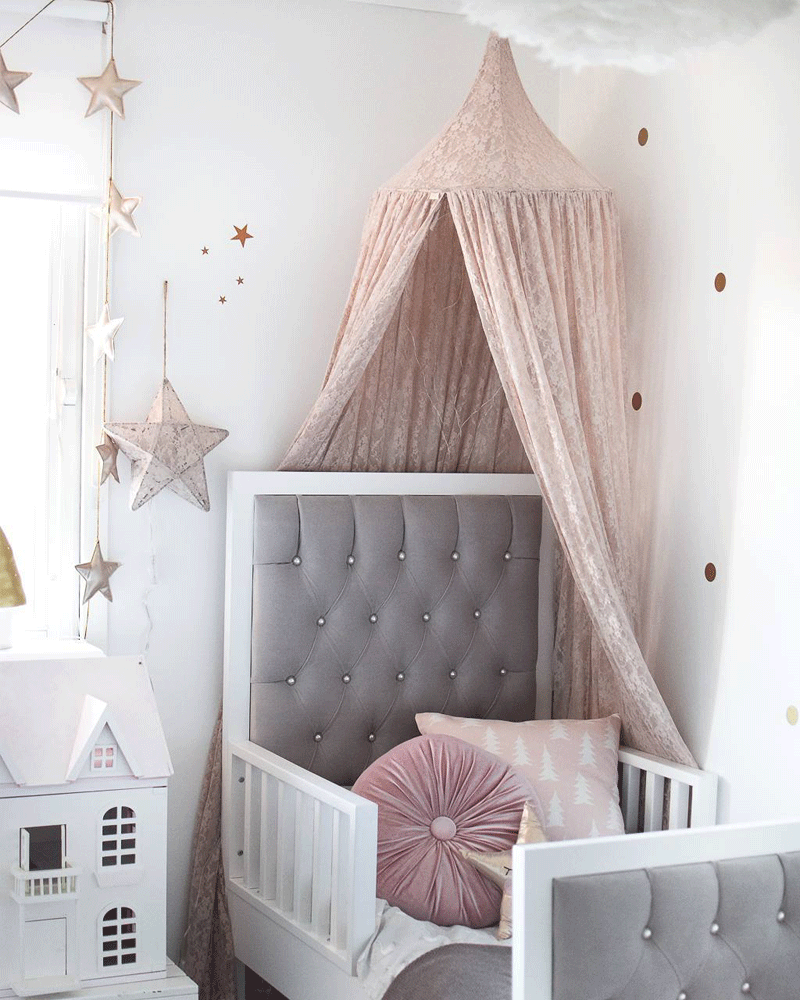 cot with padded headboard