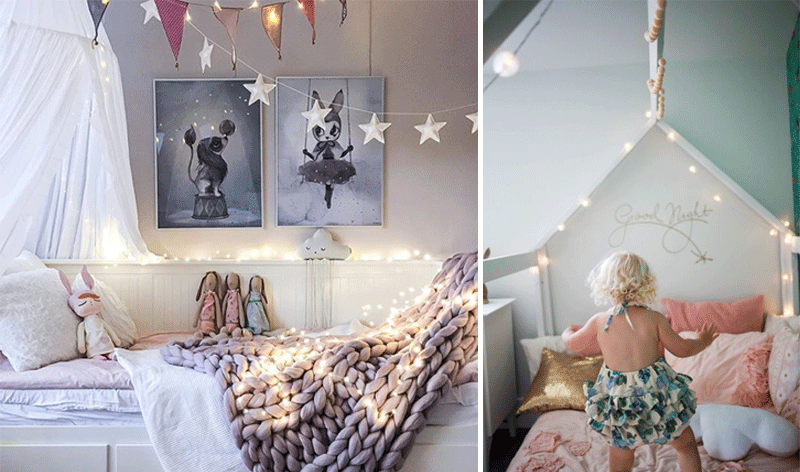 stringlights in childrens rooms