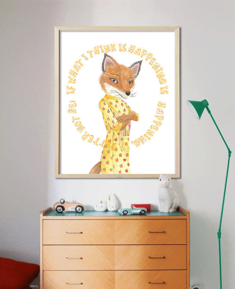 funny fox poster