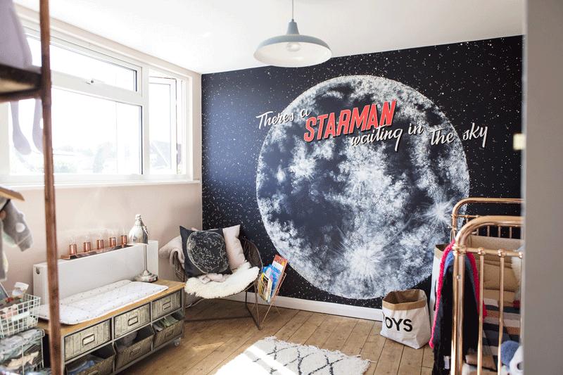 moon wallpaper kids room