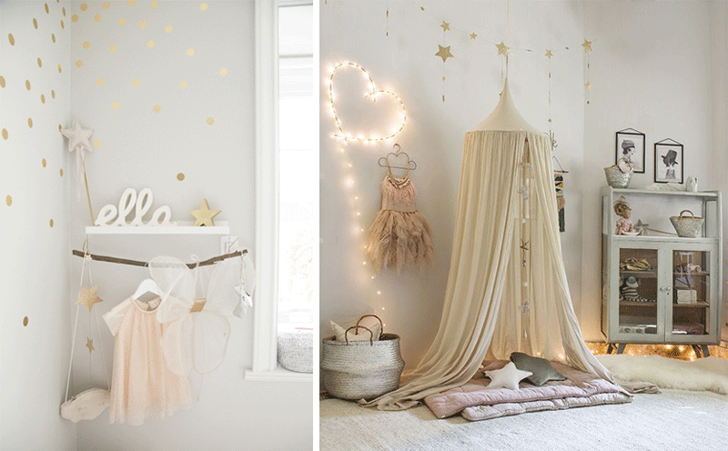 white beige magic girls rooms