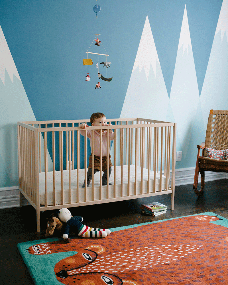 nursery with fox rug