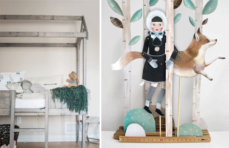 kids decor with foxes