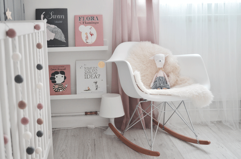 white eames chair kids room