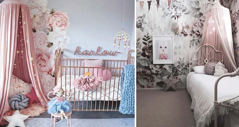 girls rooms with flowers