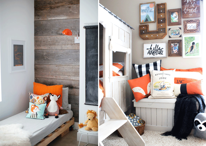 kids rooms with orange