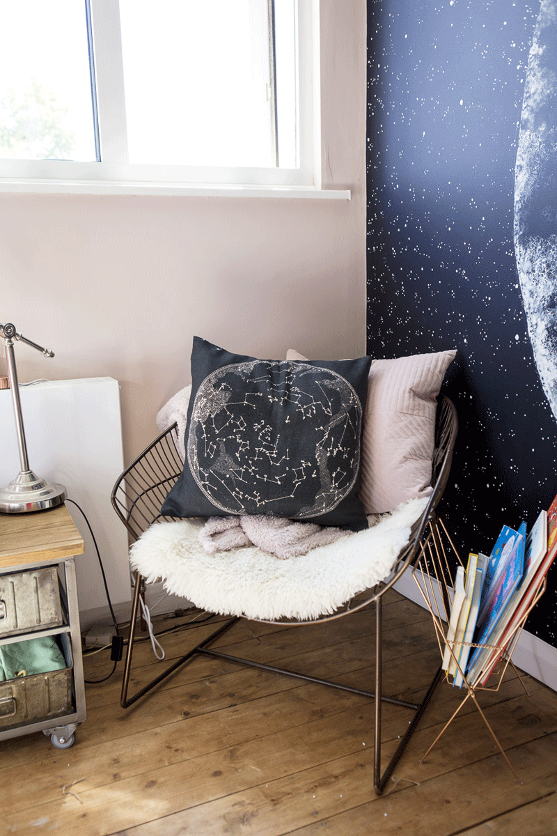 moon constellation cushion