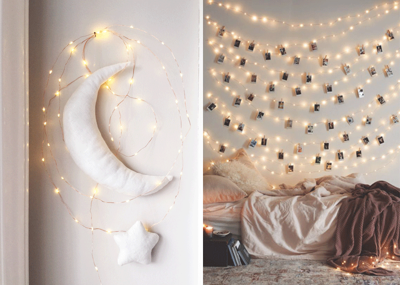 stringlights in kids rooms