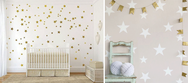 stars in a nursery