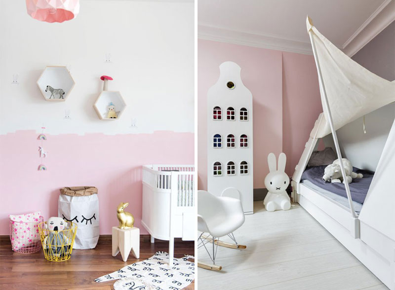 pink paint for girls room