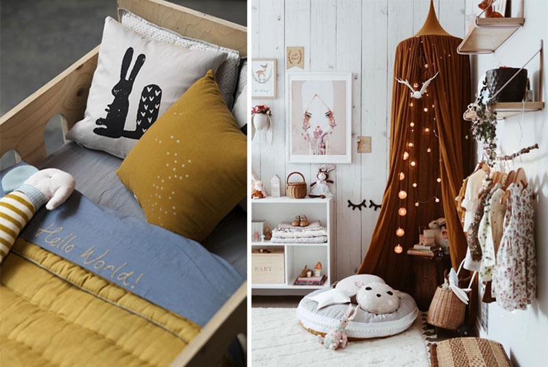 mustard childrens textiles