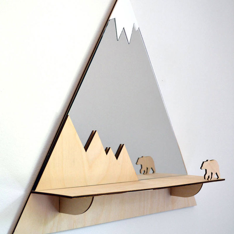 mountain peak shelf
